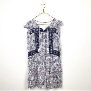 American Eagle Embroidered Tassel Shift Dress